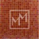 Mosaique rouge foncé irisé 15*15 mm