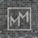 Mosaique gris noir irisé 15*15 mm
