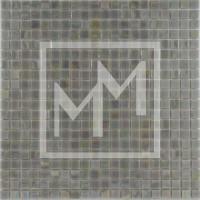 Mosaique gris vert irisé 15*15 mm