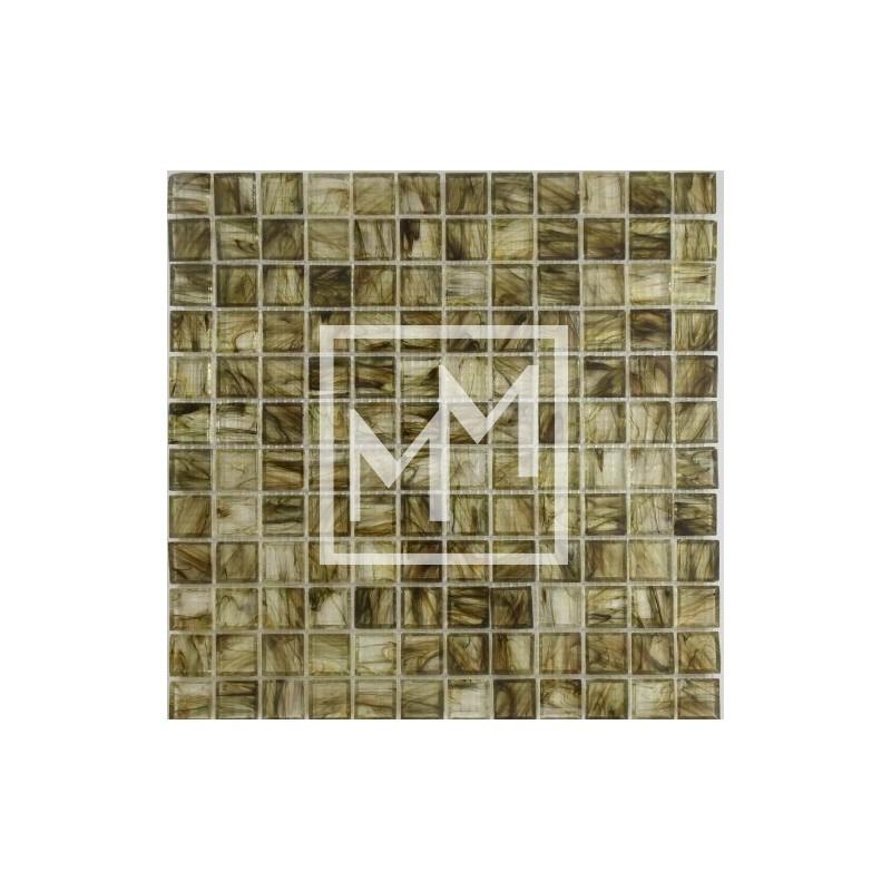 Mosaique carrelage p te de verre vert kaki pour pisicine et salle de bain for Carrelage mosaique pate de verre