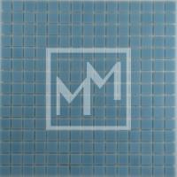 Mosaique bleu gris lisse 20*20 mm