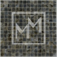 Mosaique marron gris lisse 20*20 mm
