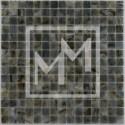 Mosaique marron gris lisse 20*20 mm