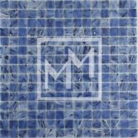 Mosaique bleu crème